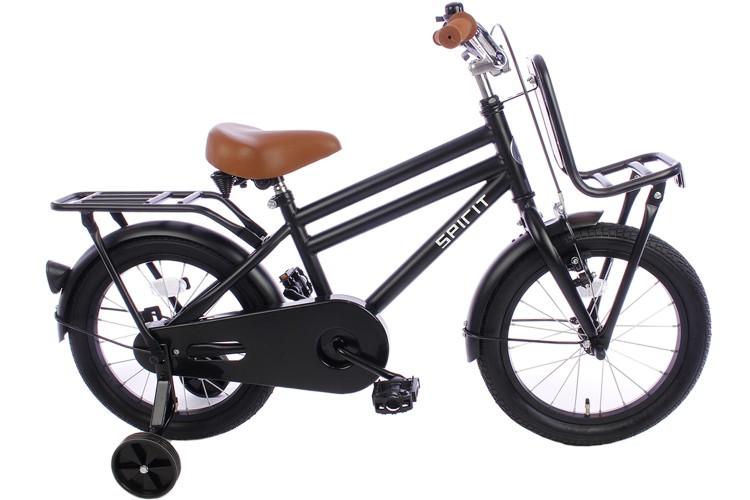 Spirit Urban Jongensfiets Mat-Zwart 16 inch