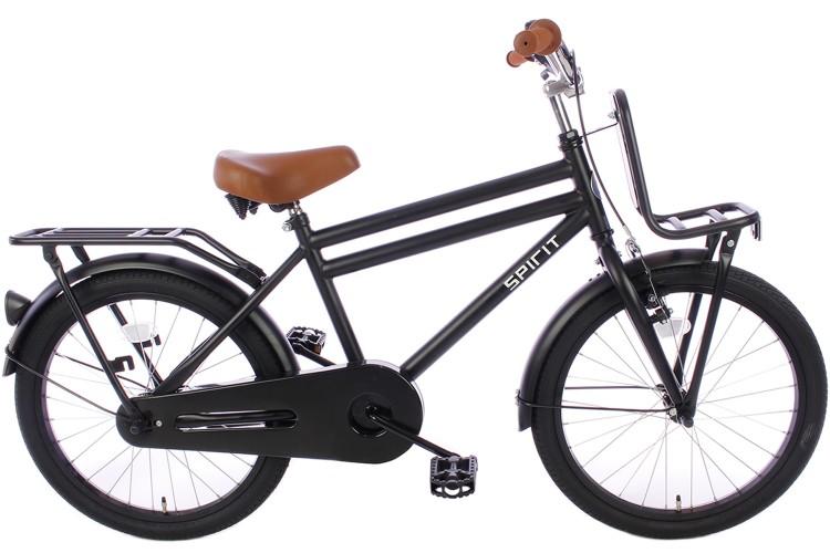 Tweedekans| Spirit Urban Jongensfiets Mat-Zwart 22 inch