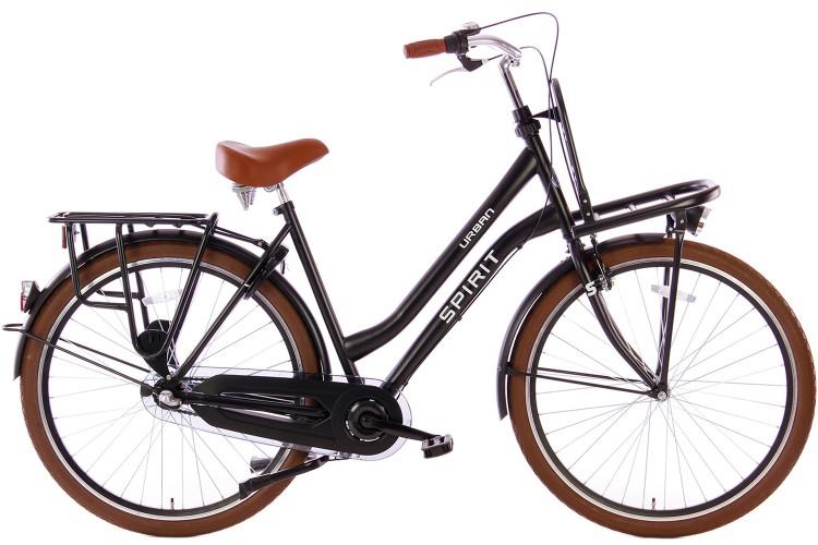 Spirit Urban N3 Transportfiets Mat-Zwart 2019