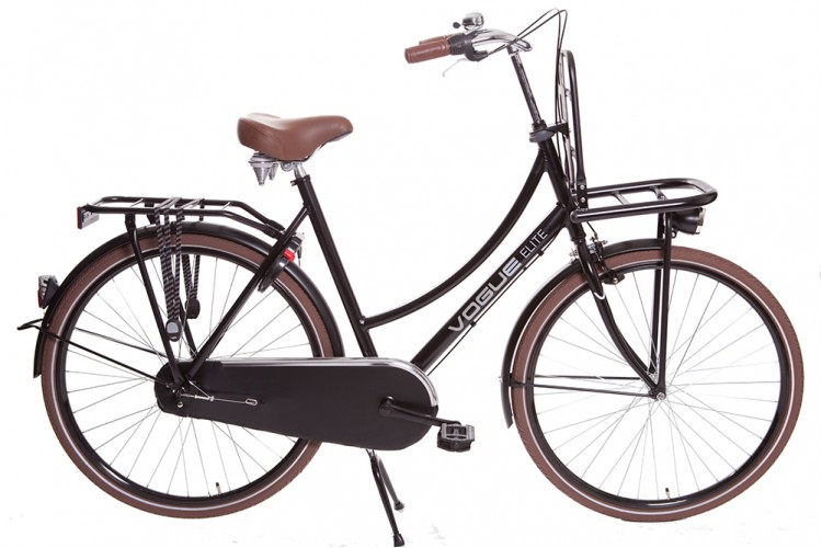 Vogue Elite Dames Transportfiets N3 Mat-zwart 2018