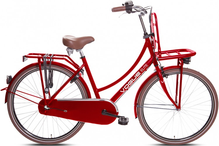 Vogue Elite Dames Transportfiets N3 Rood 2018