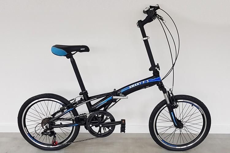 Smart Vouwfiets 7-speed zwart-blauw